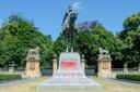 Een standbeeld van Leopold II werd vorig jaar beklad.