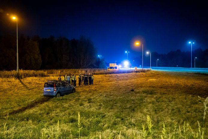 Hulpdiensten rukten massaal uit na het dodelijke ongeval.
