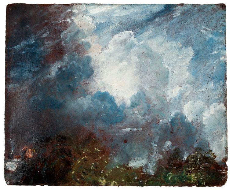 John Constable (1776-1837) Wolkenstudie, ca. 1821-1822. Beeld Collectie David Thomson