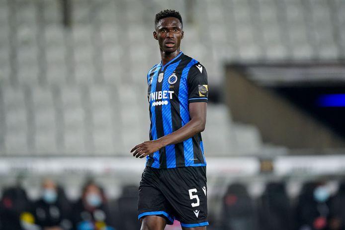 Odilon Kossounou is geschorst bij Club Brugge.