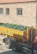 Uit de woning in Snaaskerke werden vier volle containers met planten weggehaald.