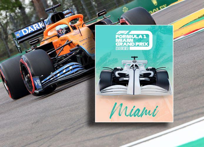 De poster van de GP van Miami.