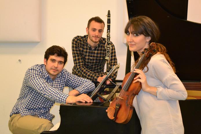 Het kamermuziekensemble bestaande uit klarinet, viool en piano