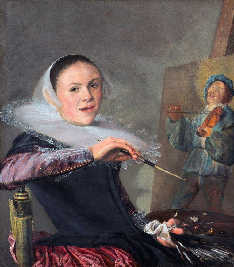 Judith Leyster: Zelfportret, circa 1630,  National Gallery, Washington DC.  Beeld Getty