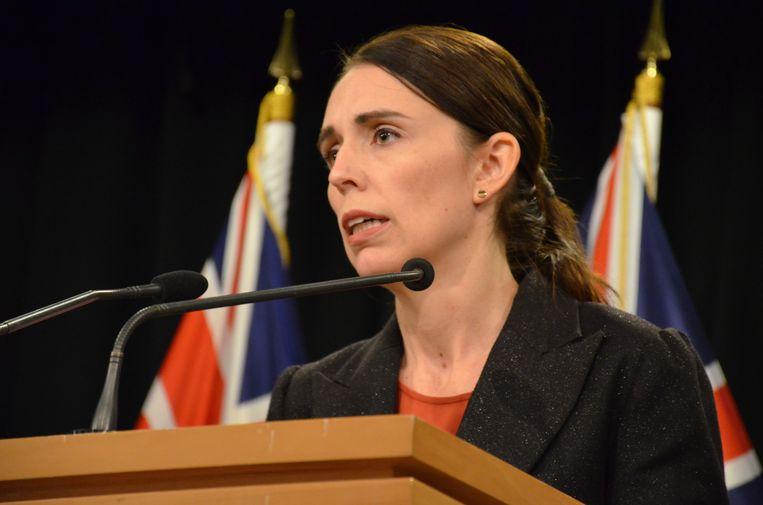 De Nieuw-Zeelandse premier Jacinda Ardern. Beeld EPA