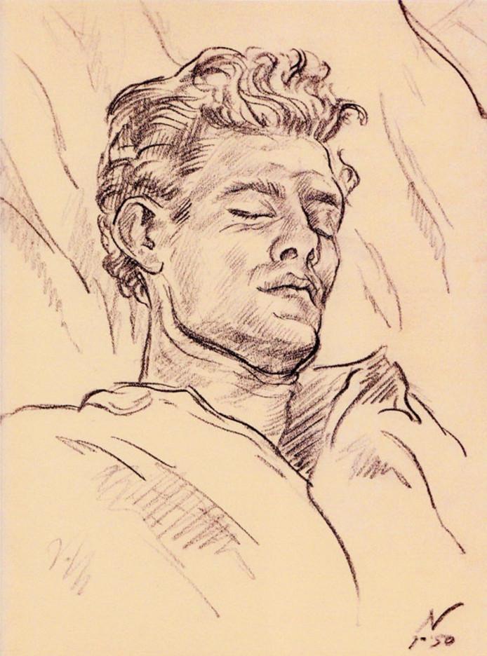 Jean Nies, Portret van Jan van Eyk, 1950.