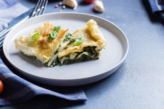 Lasagne met spinazie en kaas