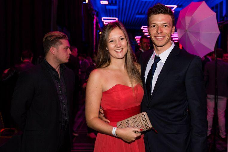 Olivier Naesen met vriendin Dorien.