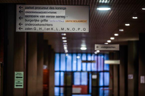 Rechtbank Brugge stockfoto's
