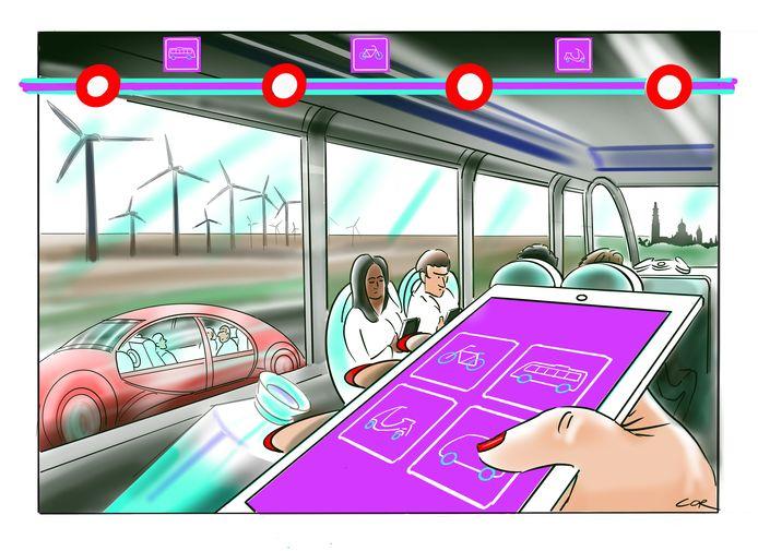 De mobiliteit van de toekomst: plan elke reis op maat met je telefoon.