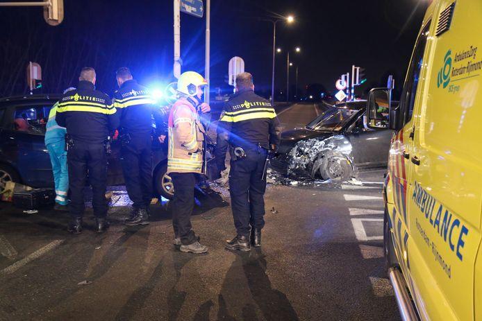 De ravage na het ongeluk in februari 2018.