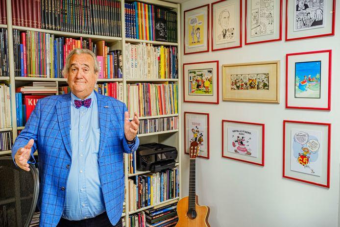 Han Peekel in zijn studio.