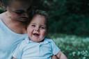 Emily Rooryck met zoontje Victor.