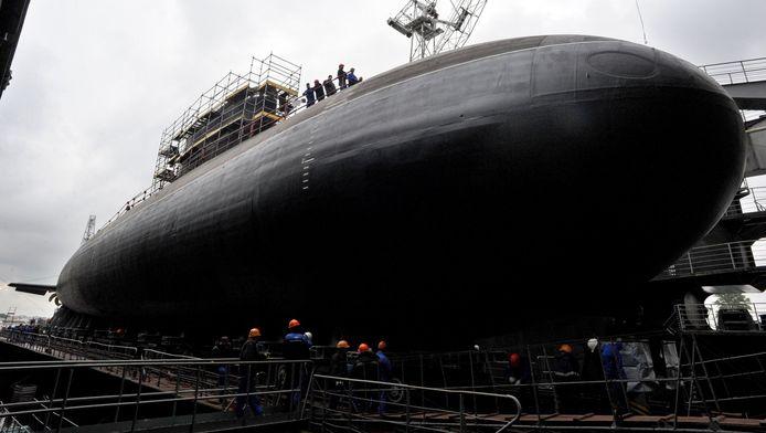 De Russische onderzeeër bij zijn presentatie in 2014.
