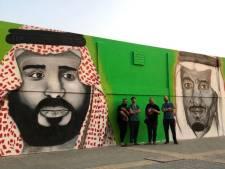 Rotterdamse kunstenaars spuiten portret van de koning in Saoedi-Arabië: iedereen bemoeide zich ermee