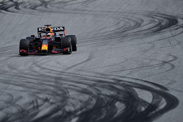 Max Verstappen tijdens de Grand Prix op de Red Bull Ring in het Oostenrijkse  Spielberg. Beeld AFP