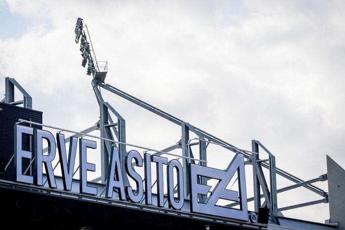 De medewerkers van Asito kijken straks uit op het stadion van Heracles Almelo, dat de naam van het bedrijf al draagt.