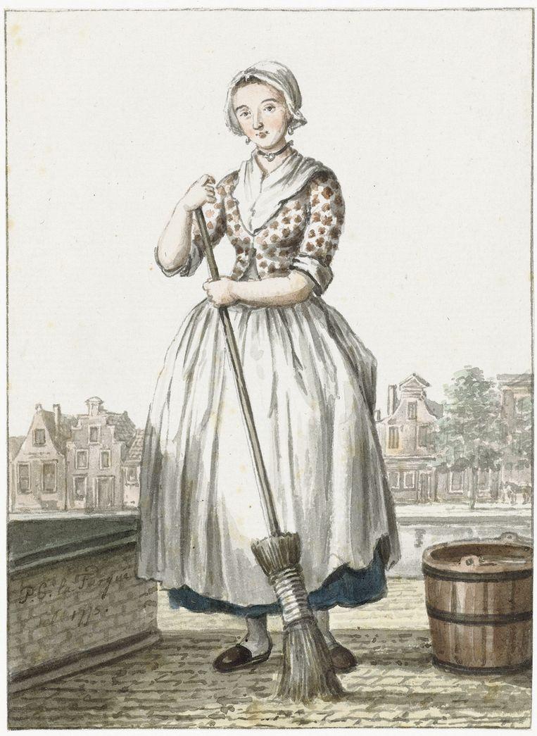 Paulus Constantijn La Fargue: Haags Dienstmeisje (1775). Rijksmuseum Amsterdam. Beeld Rijksmuseum Amsterdam