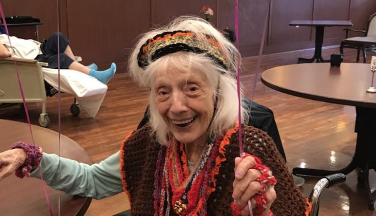 Angelina Friedman op het feest voor haar 101ste verjaardag vorig jaar in oktober.