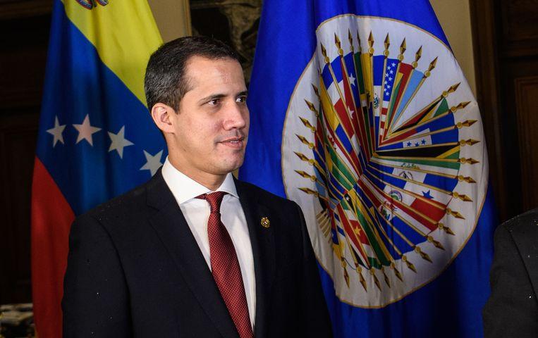 Oppositieleider Juan Guaido. Beeld AFP