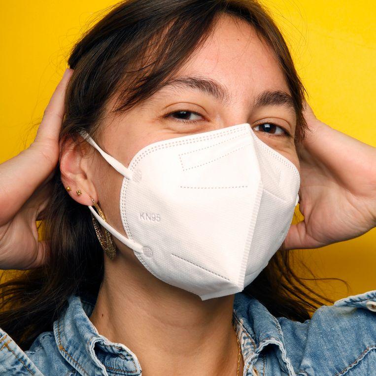 'Mingjiangyihu KN95 multiple layer protective mask' van mondkapjes.nl Beeld Studio V