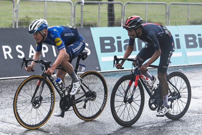Remeco Evenepoel a grappillé du temps sur la concurrence, sans hériter du poids du maillot rose.