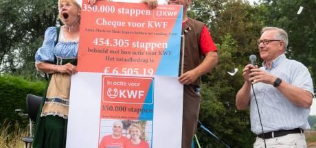 Via Gladiola na KWF-sponsorloop in Klein-Dongen
