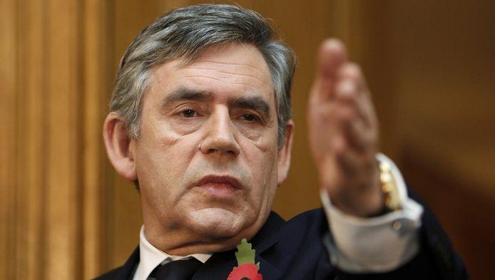 De Britten (hier premier Gordon Brown) gaan voluit voor het voorzitterschap van de Europese Raad.