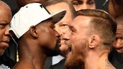 """Mayweather hint op rematch 'Money Fight', McGregor reageert: """"Ik ben er zeker van dat ik zou winnen"""""""