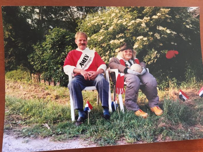 Ook toen Gijs 50 werd liet hij zien wat zijn favoriete club was.
