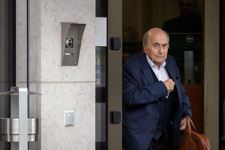 Voormalig FIFA-voorzitter Sepp Blatter. Beeld AFP