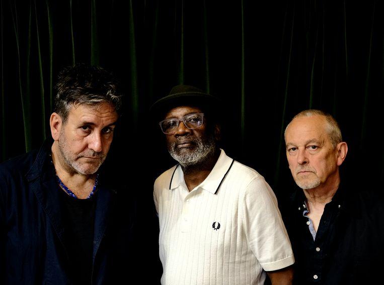 The Specials anno 2021, met zanger Terry Hall, gitarist Lynval Goldring en bassist Horace Panter (vlnr). Beeld