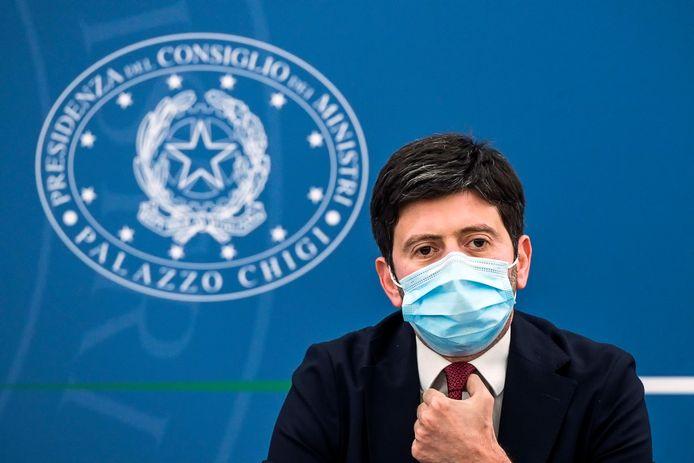De Italiaanse minister van Gezondheid Roberto Speranza.