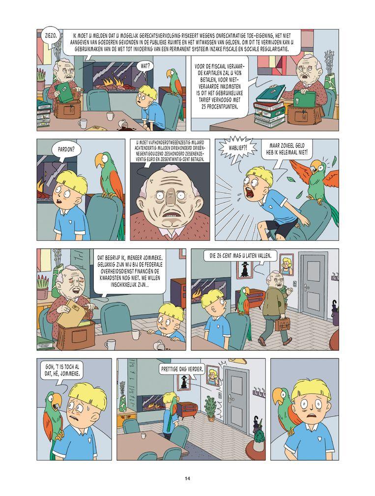 Pagina uit 'In de knel én de penarie'.  Beeld rv