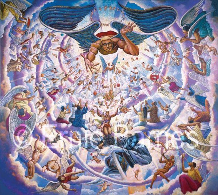 Kanye Wests Sixtijnse Kapel schilderij Beeld Ernie Barnes