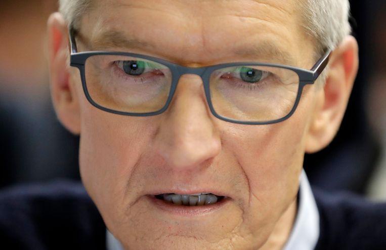 Apple-CEO Tim Cook. Beeld AP