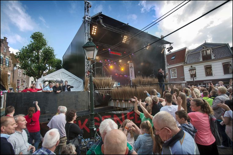 Heksenfestijn 2018 in Oudewater, met Wolter Kroes. Beeld Werry Crone