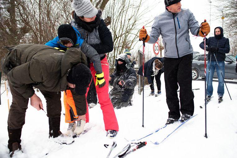 Langlaufen op golfbaan in Delden. 'Dit is echt dat wintersportgevoel', aldus hoteldirecteur Mirjam Huisken Beeld Sabine van Wechem
