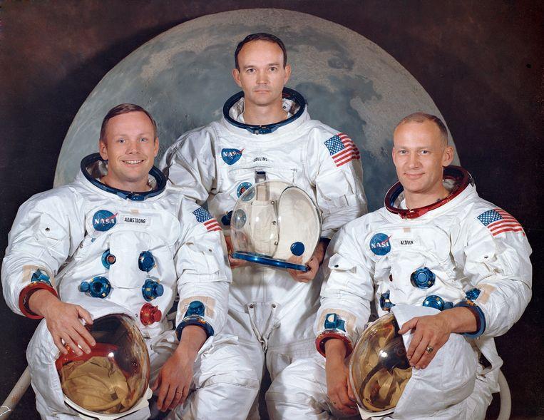 Neil Armstrong, Michael Collins en Buzz Aldrin  Beeld AP