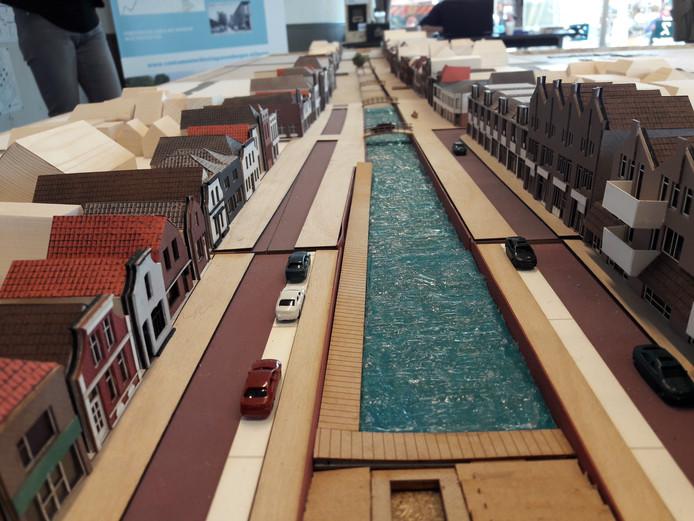 Het nieuwe haventracé gezien vanaf restaria De Roode Vaart.