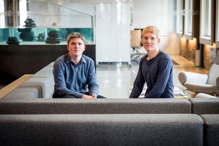 John en Patrick Collison haalden bij hun laatste investeringsronde 600 miljoen dollar op. Beeld Bloomberg via Getty Images