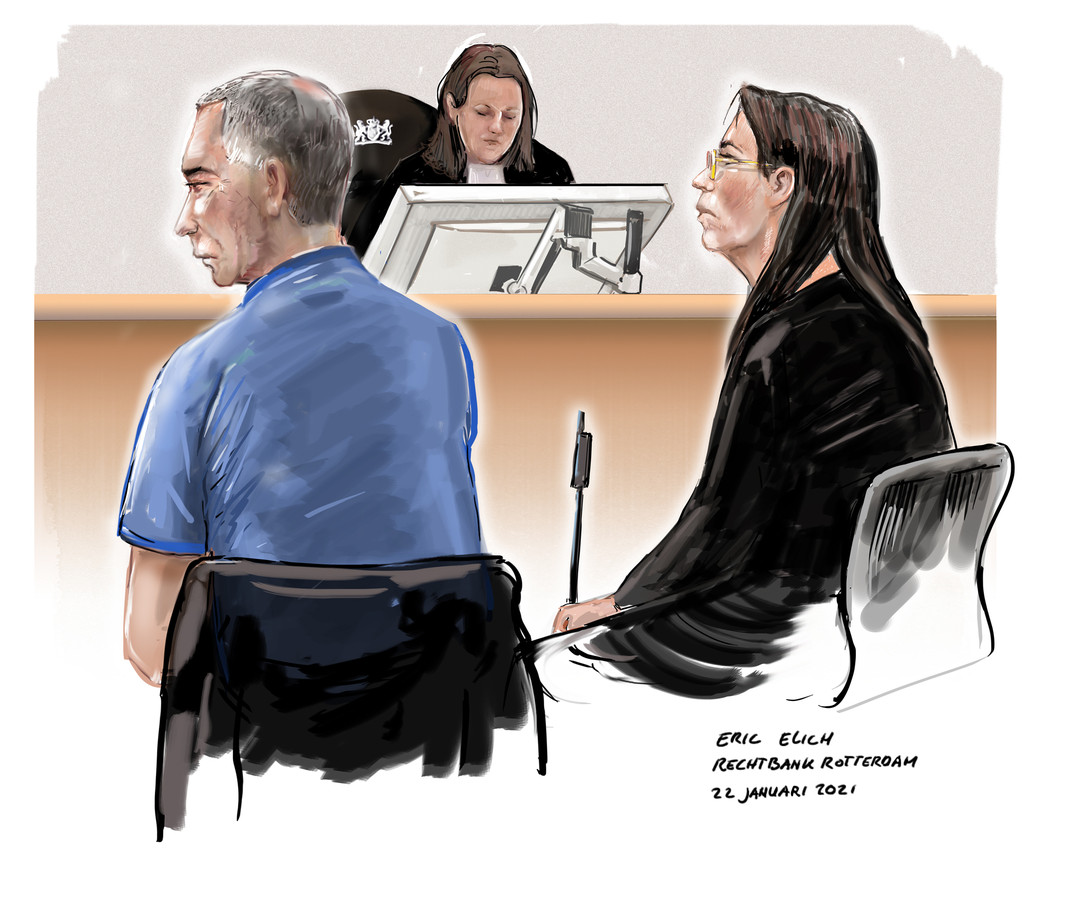 Tony van H. en Cindy S. in de rechtbank, tijdens de behandeling van hun rechtszaak.