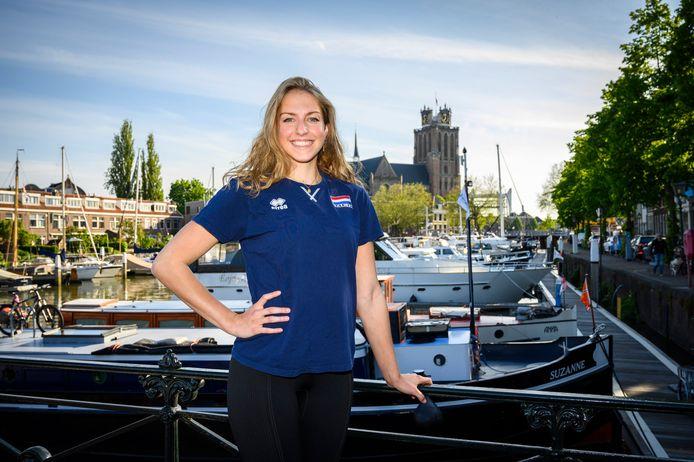 Mirte van der Sluijs: ,,Ik ben iemand die veel praat in het veld en het team wil dragen.''