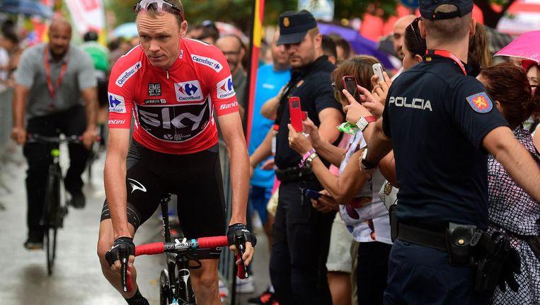 Chris Froome voorafgaand aan de etappe Beeld anp