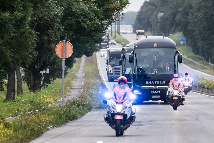 De Rode Duivels richting Estland.