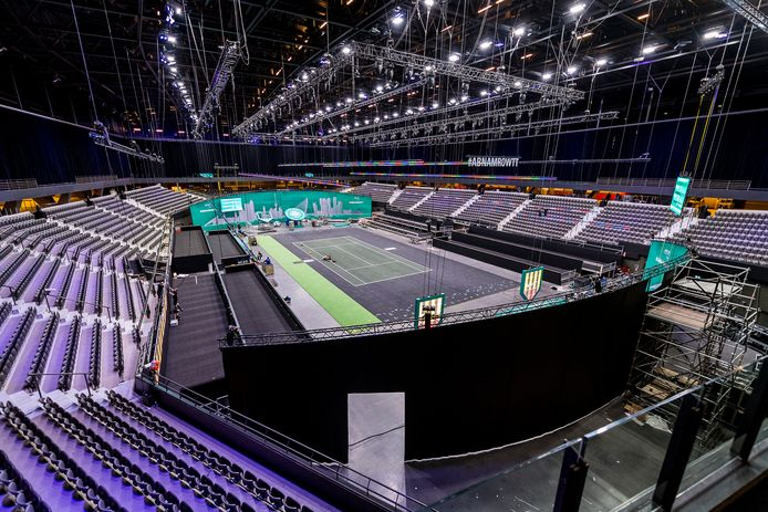 Opbouw voor ABNAMRO tennis is begonnen in AHOY