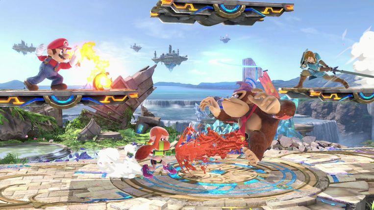 Een vechtgame met alle Nintendo-totemfiguren. Zonder dat er bloed uit de zere hoofdjes stroomt, natuurlijk. Beeld Nintendo