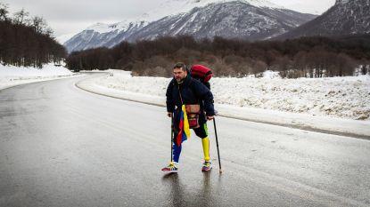 Man met één been doorkruist Zuid-Amerika te voet