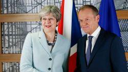"Tusk vraagt May om ""ter zake te komen"" in brexitgesprekken"