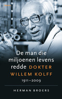 Omslag nieuwe biografie over dokter Willem Kolff.